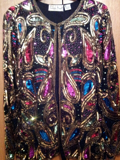 Sequin Bead Trophy Jacket, Vintage, Fashion, Style, Shopping, Paris