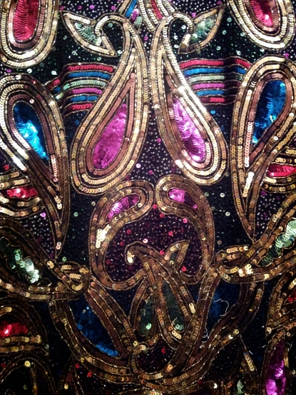 Sequin Trophy Jacket Close Up, Vintage, Fashion, Style, Shopping, Paris